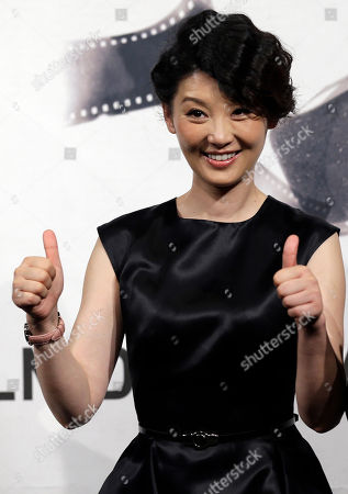 """Actress Xu Fan poses during a photocall presenting the movie """"1942"""" during the 7th edition of the Rome International Film Festival in Rome"""