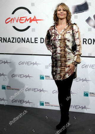 """Actress Anne Louise Hassing poses during a photocall presenting her movie """"Goltzius and the Pelican Company"""" during the 7th edition of the Rome International Film Festival in Rome"""