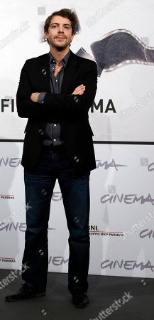"Actor Ramsey Nasr poses during a photocall presenting his movie ""Goltzius and the Pelican Company"" during the 7th edition of the Rome International Film Festival in Rome"