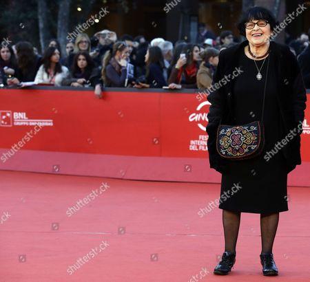 "Stock Picture of Director Kira Muratova poses for photographers as she arrives for the screening of her movie ""Vechnoe vozvraschenie"" (Eternal Return) during the 7th edition of the Rome International Film Festival in Rome"