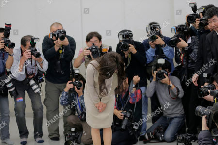 Noriko Sakai Japanese singer and actress Noriko Sakai, center, bows in front of the media after her news conference in Tokyo as she came back to the entertainment industry, a day after she finished her three years on parole. Sakai, once hugely popular in Asia, was convicted of drug use in 2009