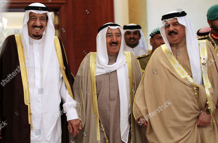 """Salman bin Abdul Aziz Al Saud, Sabah Al Ahmad Al Sabah, Hamad bin Isa Al Khalifa From left to right, Saudi Crown Prince Salman bin Abdul Aziz Al Saud, Kuwait's Emir Sheik Sabah Al Ahmad Al Sabah, and Bahrain's King Hamad bin Isa Al Khalifa, walk to attend the final day of Gulf Cooperation Council GCC summit in Sekhir, Bahrain. The world celebrated the """"Arab Spring"""" as evidence that the huddled masses of the Middle East, like people everywhere, are simply yearning to be free. But time has not been kind to the optimists"""