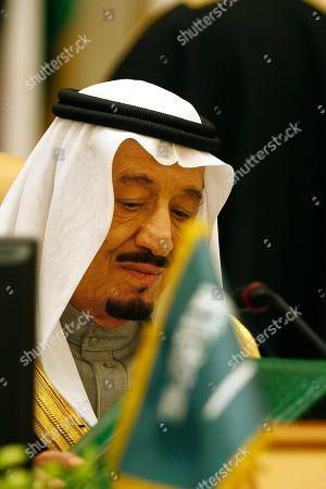 Saudi Crown Prince Salman bin Abdul Aziz Al Saud, attends the third session of the Arab Economic Summit, in Riyadh, Saudi Arabia, . Saudi Arabia is hosting the Arab Economic Summit on January 21 and 22