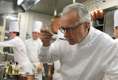 """Alain Ducasse French chef Alain Ducasse tastes a sauce in the kitchen of his restaurant the """"Louis XV"""" in Monaco, . In the coming weekend in Monaco, 240 chefs from all around the world will arrive to celebrate the 25th anniversary since his arrival in the restaurant at which Prince Rainier III of Monaco challenged him to make it the first hotel restaurant to be awarded three Michelin stars, and in a maximum of four years. 33 months later he succeeded, and went on to open dozens of other successful restaurants worldwide"""
