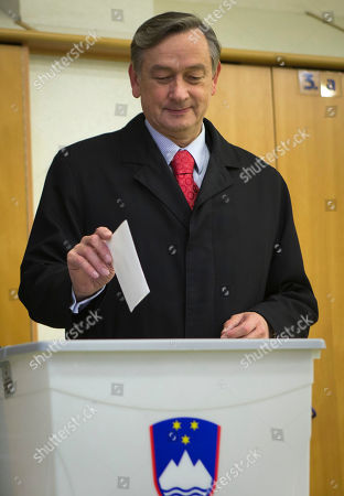 Danilo Turk Slovenia's incumbent President Danilo Turk casts his ballot at a polling station in Ljubljana, Slovenia, . Small, crisis-hit EU member Slovenia is choosing a president in an atmosphere of uncertainty and growing discontent with cost-cutting measures designed to avoid an international bailout