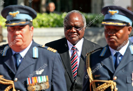 Hifikepunye Pohamba Namibian President Hifikepunye Pohamba, center, on his way to meet South African President Jacob Zuma, not in photo, in Cape Town, South Africa, . The Presidents are expected to talk about political, economic and social relations between the two countries