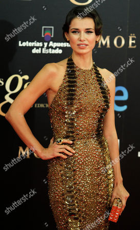 Natasha Yarovenko Ukrainian actress Natasha Yarovenko poses on arrival for the Goya Awards in Madrid, Spain