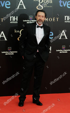 Gines Garcia Millan Spanish actor Gines Garcia Millan poses on arrival for the Goya Awards in Madrid, Spain