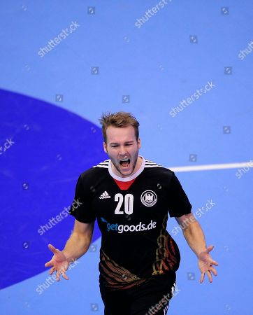 Kevin Schmidt Germany's Kevin Schmidt celebrates during a preliminary round Group A Men's World Handball championship match against Argentina in Granollers, Spain