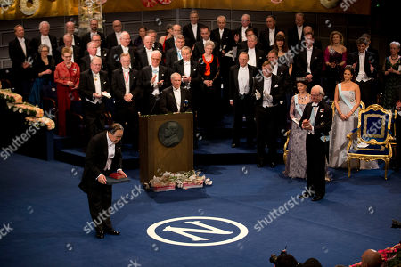 Mo Yan The 2012 Nobel Prize Laureate for Literature China's Mo Yan bows after receiving his Nobel Prize from Sweden's King Carl XVI Gustaf, at right, during the Nobel Prize award ceremony at the Stockholm Concert Hall in Stockholm, . The Nobel awards are always awarded on Dec. 10, the anniversary of Alfred Nobel's death in 1896. The prizes for laureates in medicine, chemistry, physics and literature are awarded in the Swedish capital Stockholm, whilst the Nobel Peace Prize is awarded on the same day in Oslo, Norway