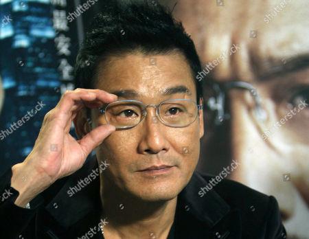 "Tony Leung Ka Fai On, Hong Kong actor Tony Leung Ka Fai speaks during an interview for his new film ""Cold War"" in Taipei, Taiwan"