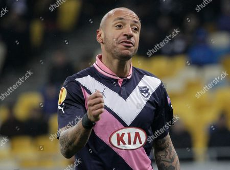 Julien Faubert Julien Faubert of Bordeaux reacts during the Europa League round of 32 soccer match between Dynamo Kiev and Bordeaux at the Olympiyskiy national stadium in Kiev, Ukraine
