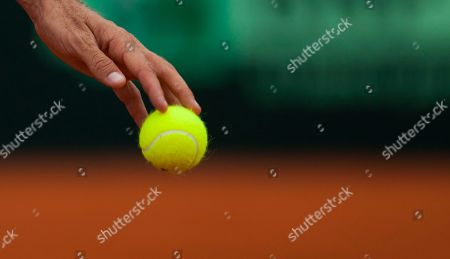 Czech Republic's Radek Stepanek holds a ball in a Davis Cup tennis semifinals doubles match against Argentina's Eduardo Schwank and Carlos Berlocq in Buenos Aires, Argentina, . Czech Republic won 6-3, 6-4, 6-3