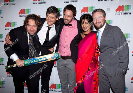 "Brendan Cowell, Boyd Hicklin, Damon Gameau, Pallavi Sharda, Stephen Curry The cast members of ""Save Your Legs!"" from left, Brendan Cowell, director Boyd Hicklin, Damon Gameau, Pallavi Sharda and Stephen Curry arrive for the premiere of the movie held as part of the Melbourne International Film Festival in Melbourne, Australia"