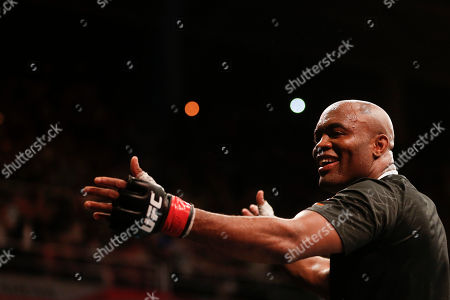 Anderson Silva, Stephan Bonnar Anderson Silva, from Brazil, celebrates after defeating Stephan Bonnar, from the United States, during their light heavyweight mixed martial arts bout at UFC 153 in Rio de Janeiro, early