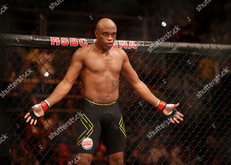 Stock Image of Anderson Silva Anderson Silva, from Brazil, fights Stephan Bonnar, from the United States, during their light heavyweight mixed martial arts bout at the Ultimate Fighting Championship (UFC) 153 in Rio de Janeiro, Brazil, . Silva defeated Bonnar