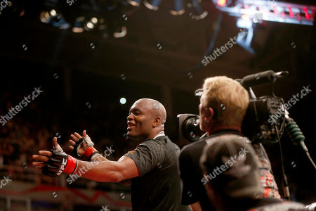 Stock Picture of Anderson Silva Anderson Silva, from Brazil, reacts after defeating Stephan Bonnar, from the United States, during their light heavyweight mixed martial arts bout at the Ultimate Fighting Championship (UFC) 153 in Rio de Janeiro, Brazil