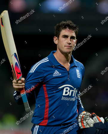England's Craig Kieswetter acknowledges the crowd after being on 50 by South Africa's Morne Morkel during their Twenty20 International cricket match at Edgbaston cricket ground, Birmingham, England