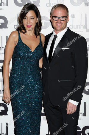 Suzanne Pirret, Heston Blumenthal Suzanne Pirret and Heston Blumenthal arrive for the GQ Men of the Year Awards at a central London venue