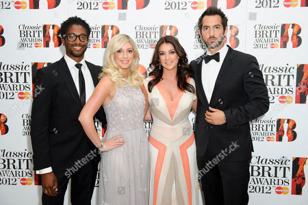 Amore, Peter Brathwaite, Victoria Gray, Monica McGhee, David Webb Amore consiting of members Peter Brathwaite, Victoria Gray, Monica McGhee and David Webb arrive for the Classic BRIT Awards Nominations Launch party at a central London venue