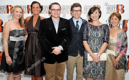 Jenna Matthews, Emma Williams, Paul Mealor, Gareth Malone, Heather Creswell, Julie Barclay The Military Wives consisting of members Jenna Matthews, Emma Williams, Paul Mealor, Gareth Malone, Heather Creswell and Julie Barclay arrive for the Classic BRIT Awards Nominations Launch party at a central London venue