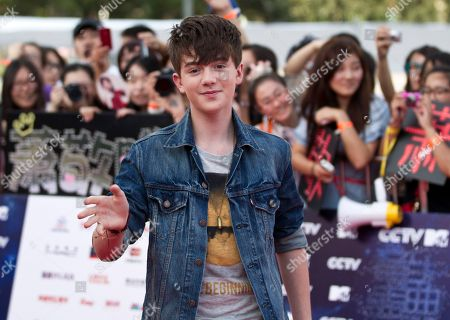 Greyson Chance U.S. singer Greyson Chance poses for photo upon arrival at the MTV Award Gala held in Beijing
