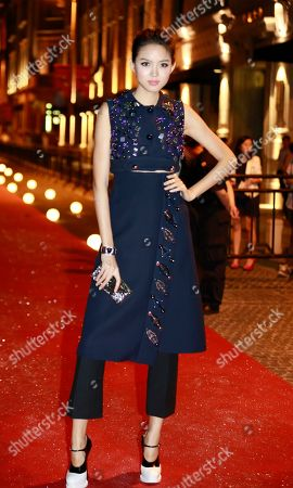 Zhang Zilin Zhang Zilin, Chinese fashion model and Miss World 2007, poses for photographers at the red carpet of Vogue Fashion's Night Out event in Shanghai, China