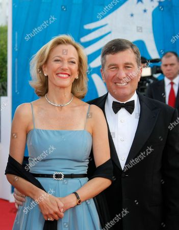 """Susan Tolson, Charles H. Rivkin U.S Ambassador to France and Monaco Charles H. Rivkin and wife Susan Tolson arrrives for the screening of """"Robot and Frank"""" at the opening of the 38th American Film Festival, in Deauville, Normandy, France. The 38-year-old festival, a European showcase for mainly American movies, with seven first-time directors in its competition lineup, opens Friday night and runs through Sept. 9"""