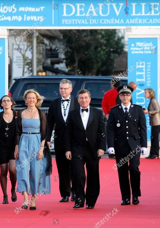 """Susan Tolson, Charles H. Rivkin U.S Ambassador to France and Monaco Charles H. Rivkin and wife Susan Tolson arrrive for the screening of """"Robot and Frank"""" at the opening of the 38th American Film Festival, in Deauville, Normandy, France. The 38-year-old festival, a European showcase for mainly American movies, with seven first-time directors in its competition lineup, opens Friday night and runs through Sept. 9"""