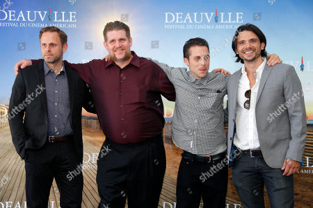 Matt Ruskin, Adam DuPaul, Nico Stone, Troy Johanson From left, U.S. director Matt Ruskin, U.S. actor Adam DuPaul, U.S. actor Nico Stone and U.S. producer Troy Johanson pose during a photo call for the movie 'Electrick Children' at the 38th American Film Festival in Deauville, Normandy, France
