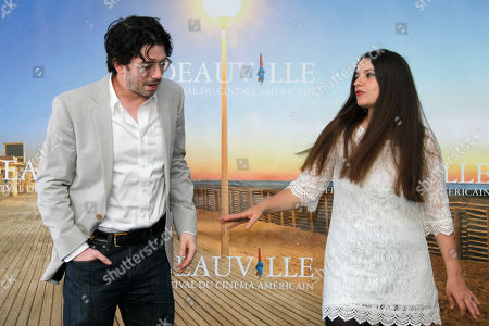 Brian M. cassidy, Melanie Shatzky U.S director Brian M. Cassidy and Canadian director Melanie Shatzky pose during the photo call of the movie 'Francine' at the 38th American Film Festival in Deauville, Normandy, France