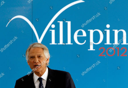 Former French prime minister Dominique de Villepin presents his electoral program at his campaign headquarter in Paris. French police questioned de Villepin on over an alleged embezzlement scheme at a hotel chain that was run by a friend