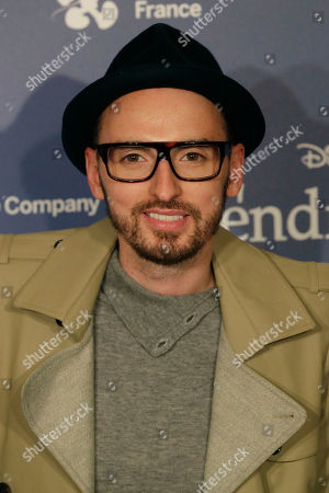 Christophe Willem French singer Christophe Willem, poses during the award ceremony of France's Disney Cinderella competition on the sideline of the Paris fashion week in Paris