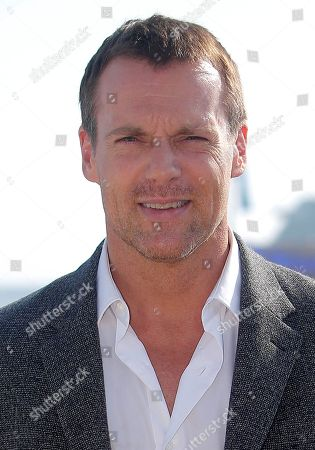 Canadian actor Michael Shanks poses during the 28th MIPCOM (International Film and Programme Market for Tv, Video,Cable and Satellite) in Cannes, southeastern France