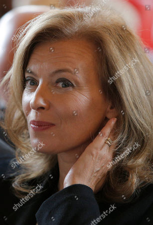 Stock Image of Valerie Trierweiler Valerie Trierweiler, companion of France's President Francois Hollande, attends a charity auction by the Foundation France Libertes in honour of France's former First lady Danielle Mitterrand in Paris, Thursday, Sept, 20, 2012