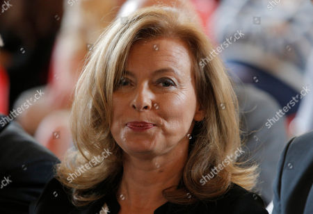 Valerie Trierweiler Valerie Trierweiler, companion of France's President Francois Hollande, attends a charity auction by the Foundation France Libertes in honour of France's former First lady Danielle Mitterrand in Paris, Thursday, Sept, 20, 2012