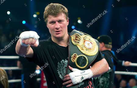 Alexander Povetkin WBA heavyweight world boxing champion Alexander Povetkin of Russia poses after he won his fight against Hasim Rahman of the U.S., in Hamburg, Germany, . Povetkin retained his WBA heavyweight title with a second-round technical knockout