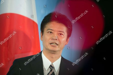 Koichiro Gemba Japan's Foreign Minister Koichiro Gemba briefs the media during a meeting with his counterpart from Germany Guido Westerwelle, not pictured, following their talks at the foreign ministry in Berlin
