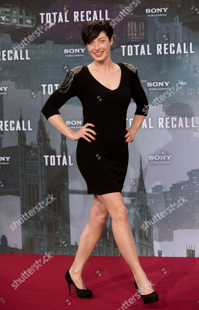 """Kathy Weber Television presenter Kathy Weber arrives for the German premiere of the movie """"Total Recall"""" in Berlin, Germany"""