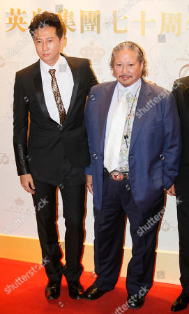 Sammo Hun, Hung Tin-ming Hong Kong action director Sammo Hung, right, poses with his son actor Hung Tin-ming during an event to celebrate the 70th anniversary of Hong Kong's Emperor Entertainment Group in Hong Kong