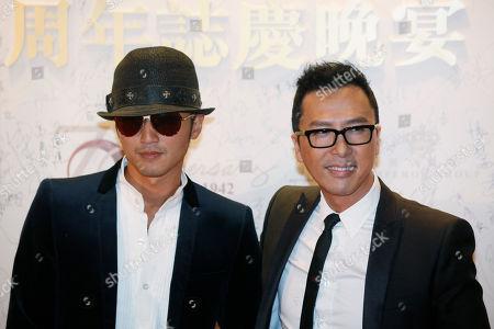 Donnie Yen, Nicholas Tse Hong Kong movie star Donnie Yen, right and Nicholas Tse pose during an event to celebrate the 70th anniversary of Hong Kong's Emperor Entertainment Group, in Hong Kong