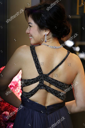 Stock Photo of Cherie Chung Cherie Chung, former Miss Hong Kong, poses at the opening of the Piaget flagship store in Hong Kong