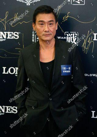 """Tony Leung Ka Fai Hong Kong actor Tony Leung Ka Fai poses before the premiere of his new movie """"Cold War"""" in Hong Kong"""