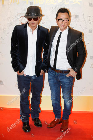Donnie Yen, Nicholas Tse Hong Kong movie star Donnie Yen, right and Nicholas Tse pose during an event to celebrate the 70th anniversary of Emperor Entertainment Group Ltd in Hong Kong