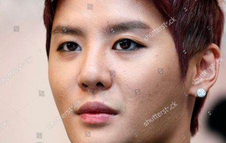 Kim Junsu South Korean singer Kim Junsu atends a news conference to promote his Asian concert tour in Hong Kong . The concert will be held on Aug. 26 in Hong Kong