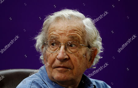 Mideast, Noam Chomsky Jewish-American scholar and activist Noam Chomsky attends a conference at the Islamic University in Gaza City, Saturday, Oct. 20, 2012. Chomsky entered Gaza Strip from Egypt Thursday for his first visit to Gaza