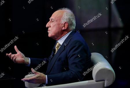 "Italian pianist and musician Maurizio Pollini is seen during the taping of the Italian State RAI TV program ""Che Tempo che Fa"", in Milan, Italy"