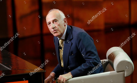 """Stock Image of Italian pianist and musician Maurizio Pollini is seen during the taping of the Italian State RAI TV program """"Che Tempo che Fa"""", in Milan, Italy"""
