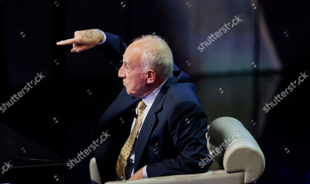 """Stock Photo of Italian pianist and musician Maurizio Pollini is seen during the taping of the Italian State RAI TV program """"Che Tempo che Fa"""", in Milan, Italy"""