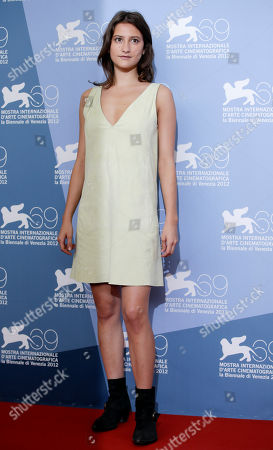 Lola Creton Actress Lola Creton poses for the photo call of the film 'Apres Mai' at the 69th edition of the Venice Film Festival in Venice, Italy